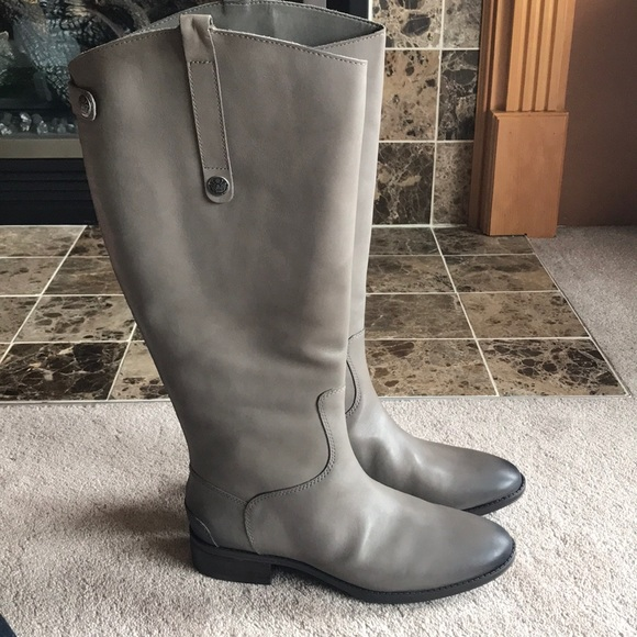 d9f76ab9a36070 Sam Edelman Penny Leather Boots Wide Calf NWT